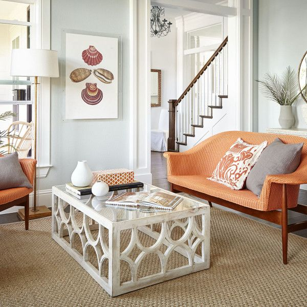 Lime Wash Coffee Table