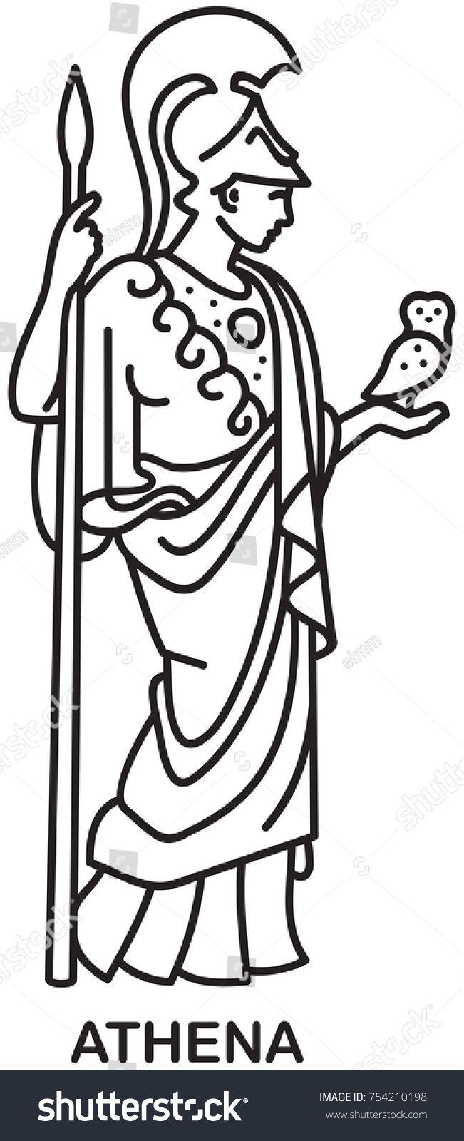 Athena Ancient Greek Goddess Of Wisdom Craft And War Line