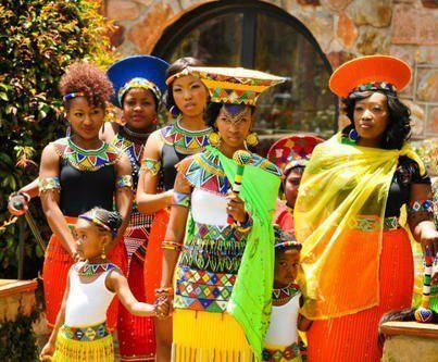 Zulu wedding in South Africa.