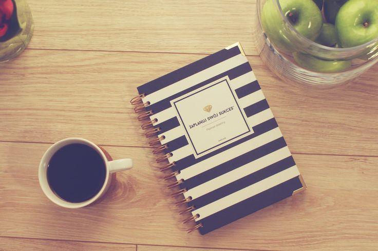 Planner dzienny | Zaplanuj Swój Sukces | Navy Blue Stripes Bold