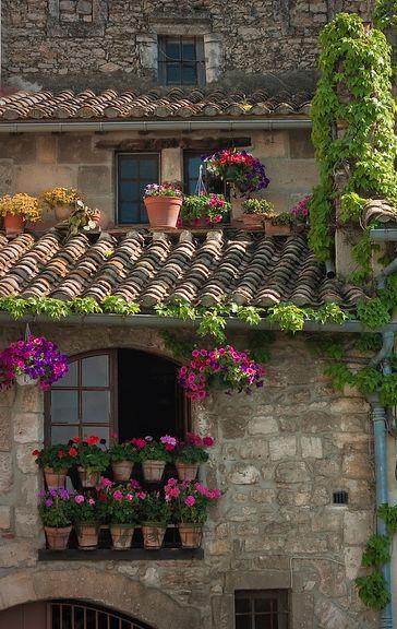 Rooftop garden in Cote d'Azur, France