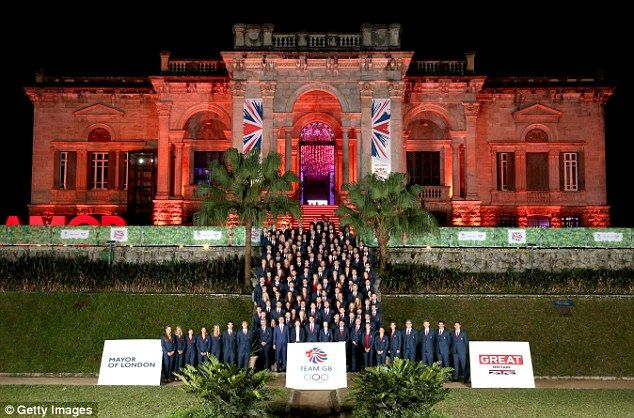 The Team GB Olympic athletes at the British House Reception ahead of the Rio 2016 Olympic Games