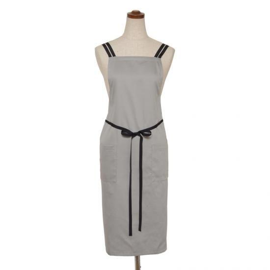 Double strap apron- black