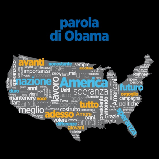 Il Secolo XIX art director Max Gentile's take on the Obama speech yesterday