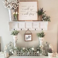 Love this wall & tablescape Enjoli! Thx for including our Cotton Stems in your #decor. #homedecor #walldecor