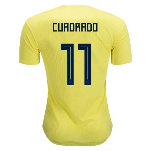 adidas Juan Cuadrado Colombia Authentic Home Jersey 2018