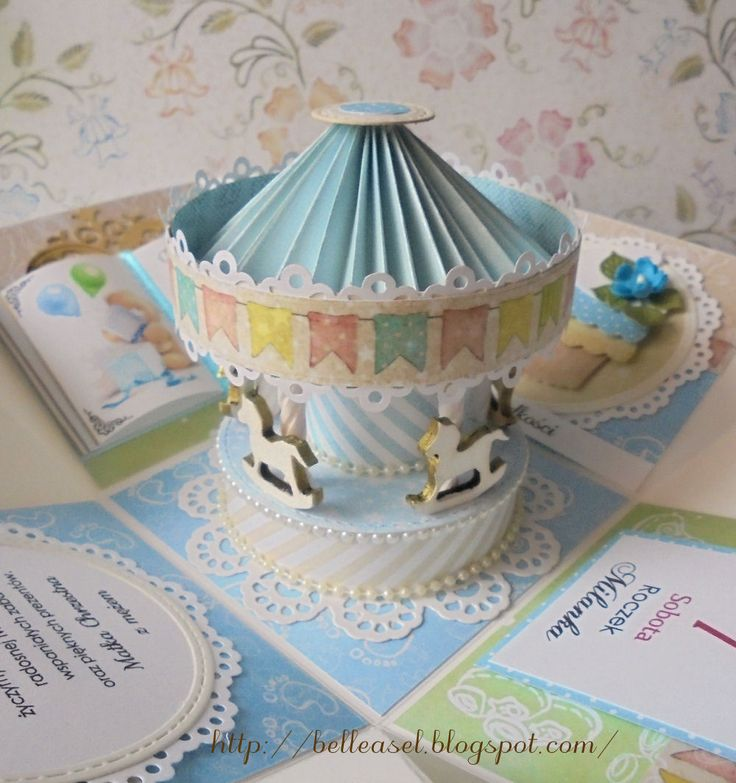 birthday card carousel explosion box