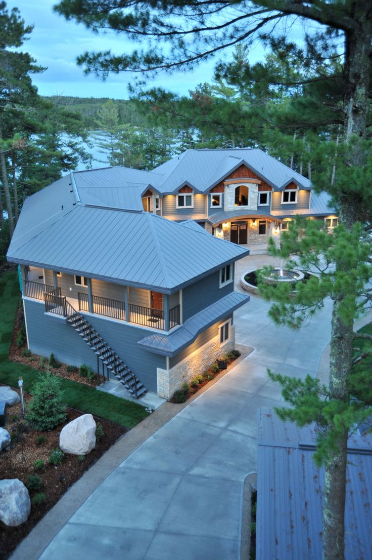 Vertical rib steel roofing from Vicwest. Visit steelroofsource.com for more information.