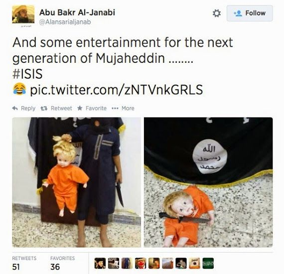 Islamic State Using Dolls to Train Children How to Behead Infidels Posted on August 23, 2014 by Pamela Geller