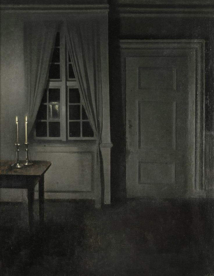 Interior with Two Candles, 1904 by Vilhelm Hammershøi