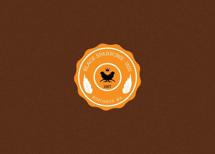 Black Sparrows Inn logo-emblem.