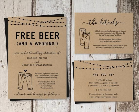 Funny Wedding Invitation Template Free Beer Fun Brewery Etsy In 2021 Wedding Invite Wording Funny Funny Wedding Invitations Wedding Invitation Wording Examples