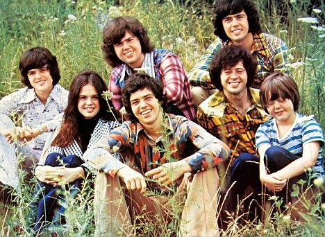 Keeping it in the family: The Osmond brothers in 1971 with sister Marie. From left to right: Donny, Marie, Merrill, Jay, Alan, Wayne and Jimmy