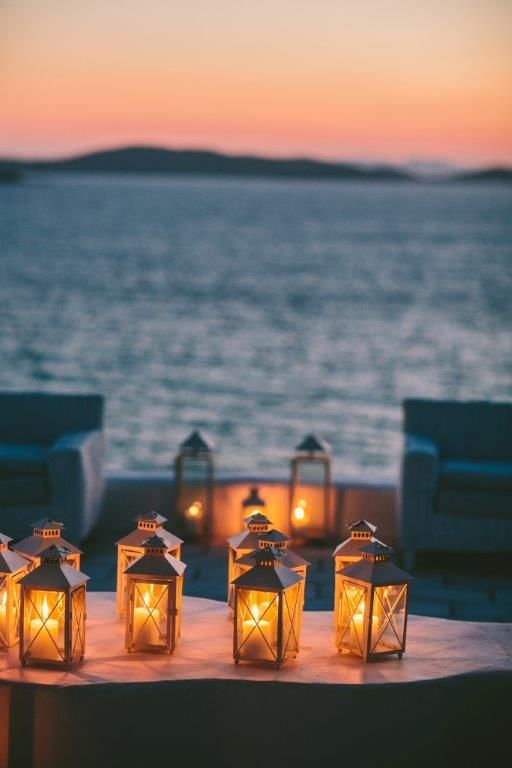Lanterns   Mykonos Villa Wedding   Exclusive Greek Island Weddings by Stella & Moscha   Bespoke Wedding Design   Photo by George Pahountis