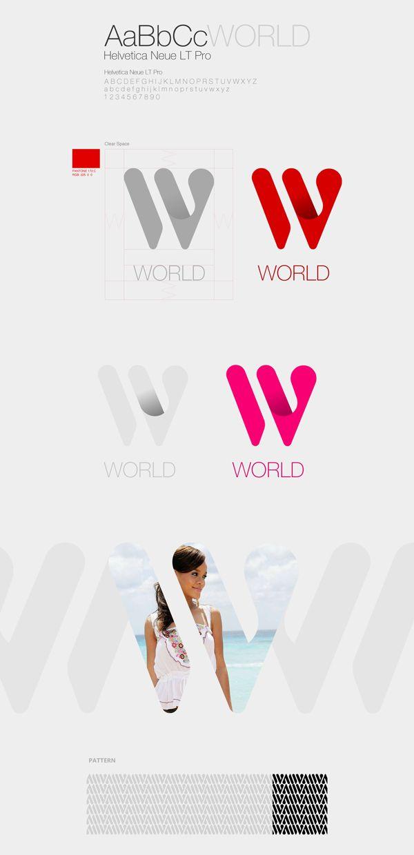 W-WORLD Corporate & Brand Identity by mustafa kural, via Behance