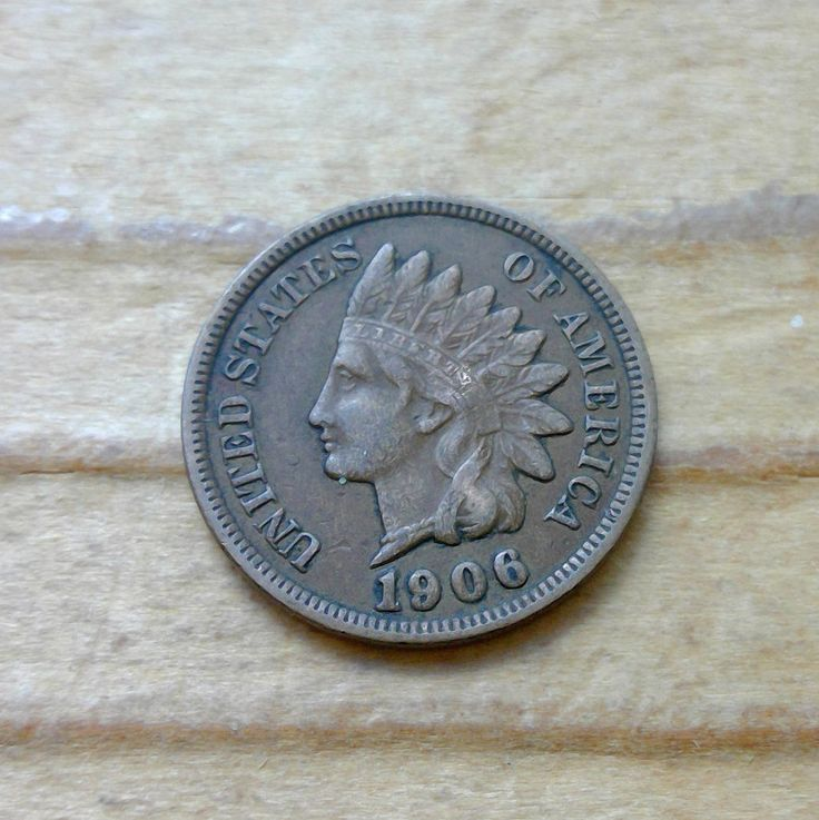 1906 Indian Head Penny, Great Condition, Almost Full Liberty by JLucasCreations on Etsy