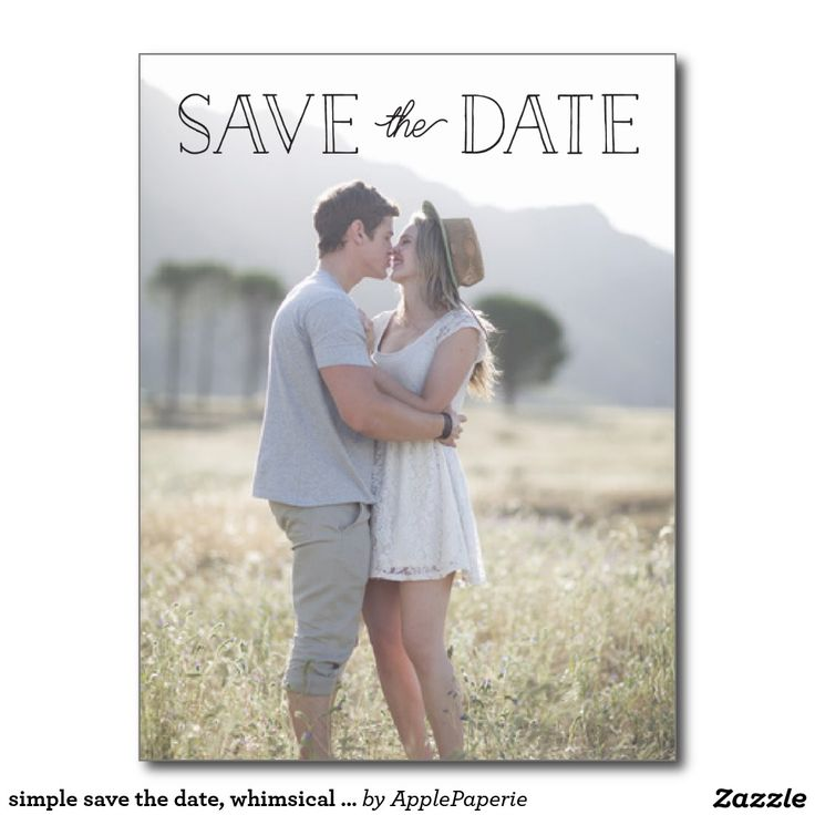 simple save the date, whimsical save the date postcard, simple save the date, save the date, save our date, whimsical save the date, photo save the date, save the date simple, elegant save the date, save the date ideas, beautiful, pretty, rustic, simple, Postcard