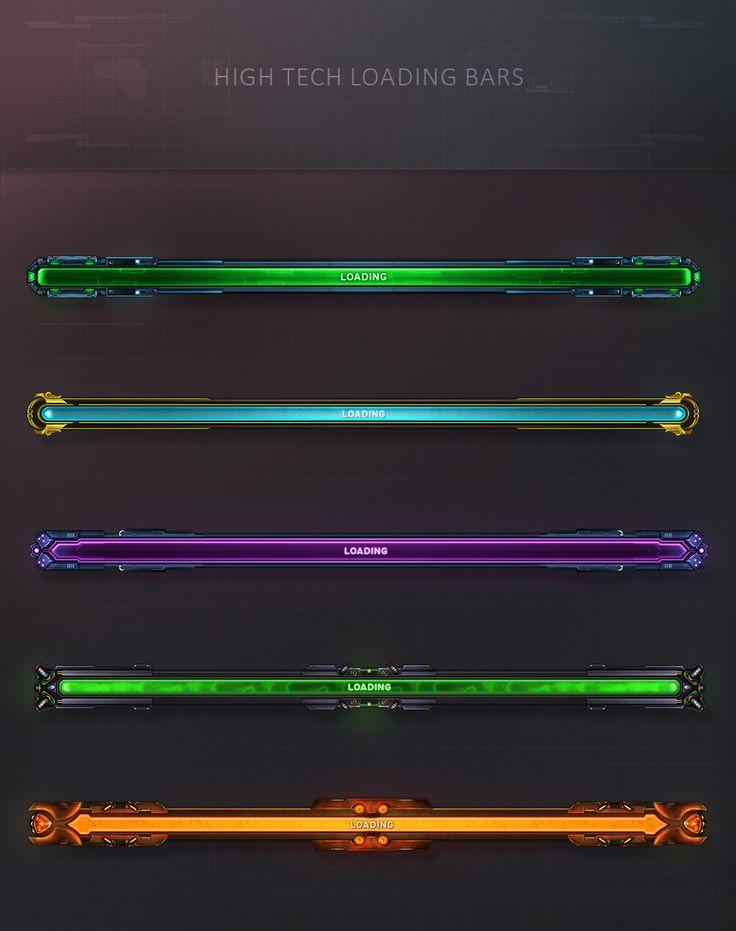 High Tech Loading Bars by VengeanceMK1.deviantart.com on @DeviantArt
