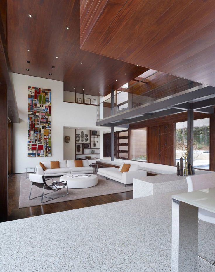 Sunken living room. OZ House, by Swatt | Miers Architects. Silicon Valley. #living_room #sunken