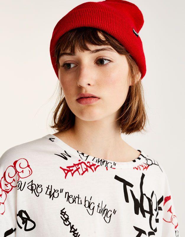 Tamamı grafiti desenli t-shirt - Yeni̇ Ürünler - Kadın - PULL&BEAR Türkiye
