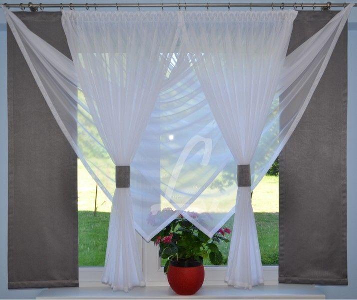 Gardinenband eingenäht, für Ösenaufhängung, waschbar bei 30 °C. Höhe Seite