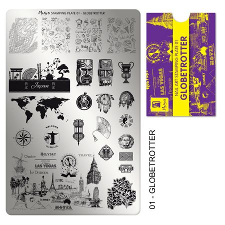 Moyra Stamping Plate 01- Globetrotter
