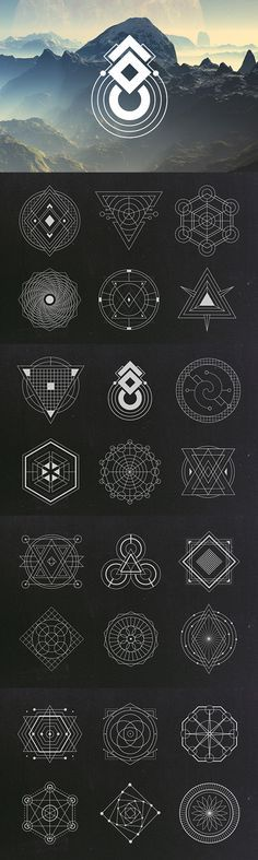 Sacred Geometry Vectors | Graphic Design Elements | Geometric Vector Clipart…