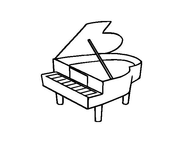 Disegno Pianoforte Da Colorare.Risultati Immagini Per Piano Forte Da Colorare Immagini Colori