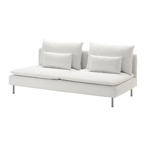 SÖDERHAMN Módulo 3 lugares IKEA Tecido de microfibras resistente, duradouro e suave.