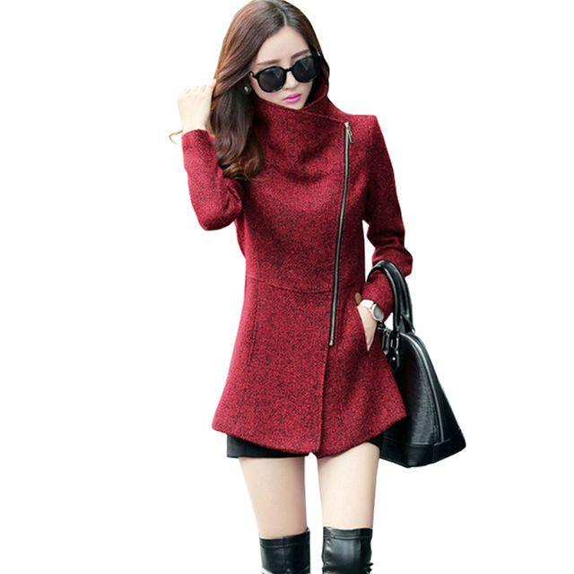 Super Deals $29.03, Buy New Europe 2017 Autumn Winter Women's Temperament Woolen Jackets Coats Female Casual Clothing Fashion Women Slim Jackets Coats