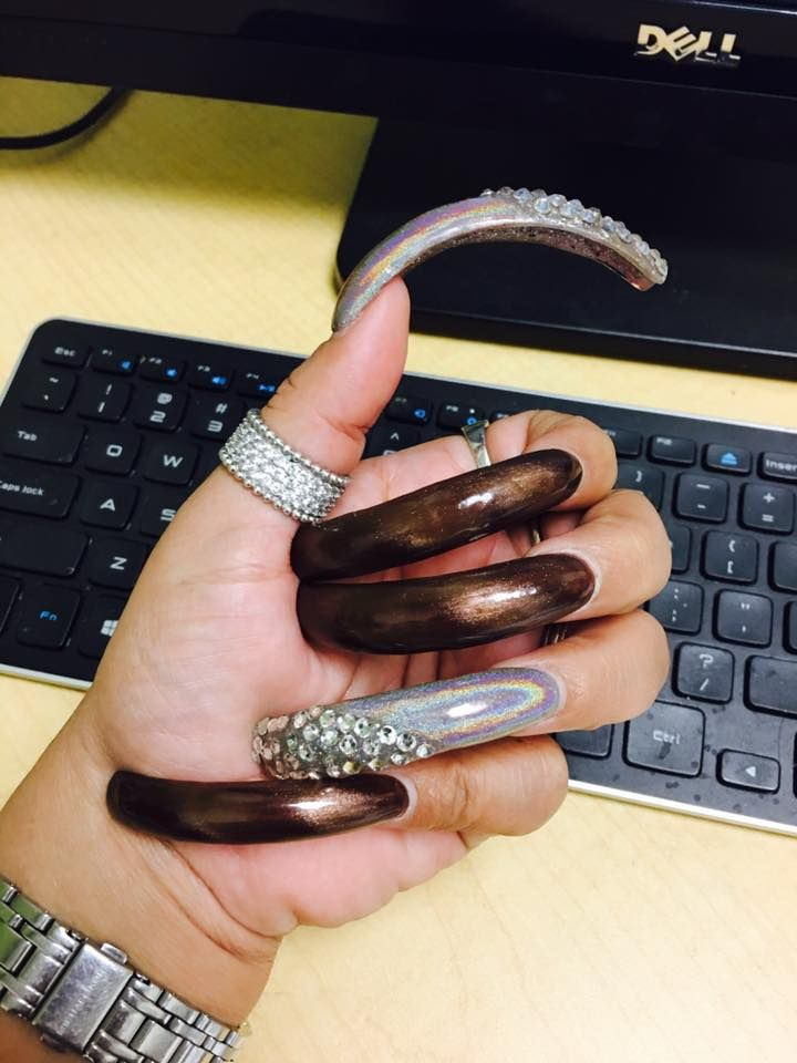 98 best Curved nails images on Pinterest | Curved nails, Long nails ...