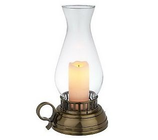 CandleImpressio Indoor/ Outdoor FlamelessCandle Hurricane Lantern w/Timer...I guarantee you will love it.   Bought on QVC shopping channel.