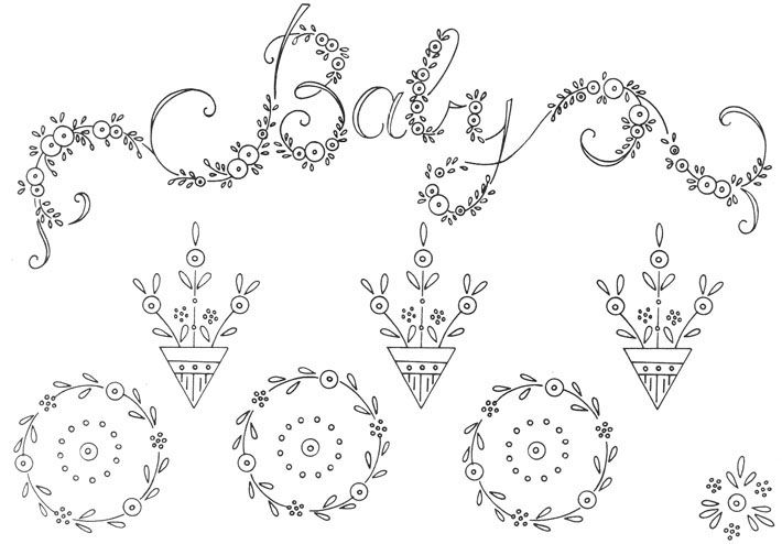 Embroidery patterns….one for the new baby and the other for the man in your life - Cotton Arts Boutique