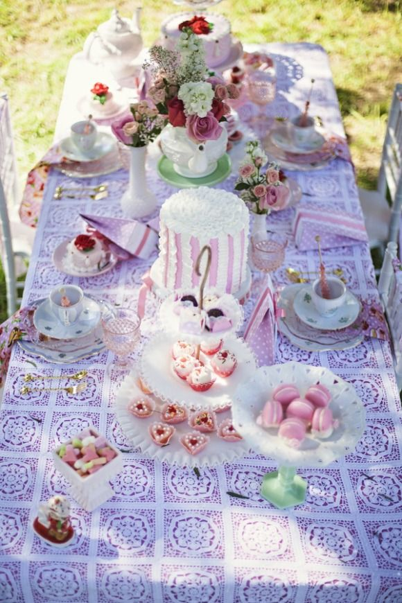 dream tea party strawberry shortcake partyideas that you can use to alice in wonderland and marie antoinette tea parties