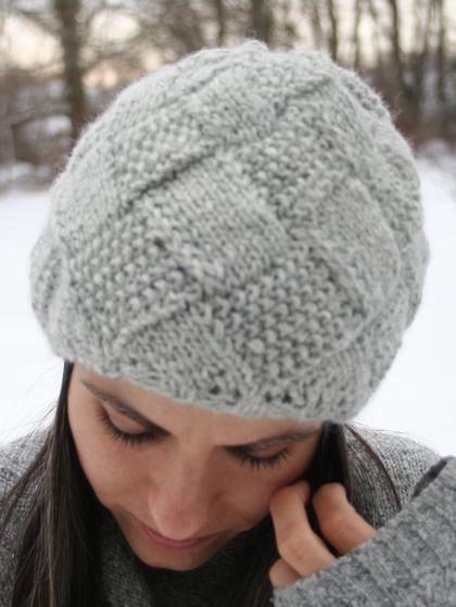 Entrelac Winter Hat - Knitting Patterns and Crochet Patterns from KnitPicks.com