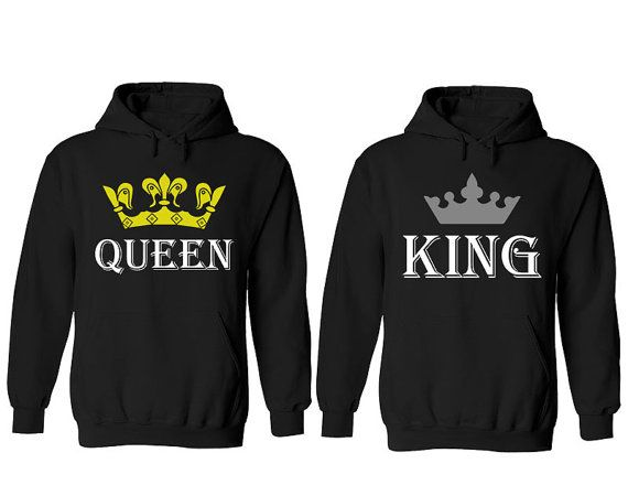 king queen love matching couple hoodies hoodie by. Black Bedroom Furniture Sets. Home Design Ideas