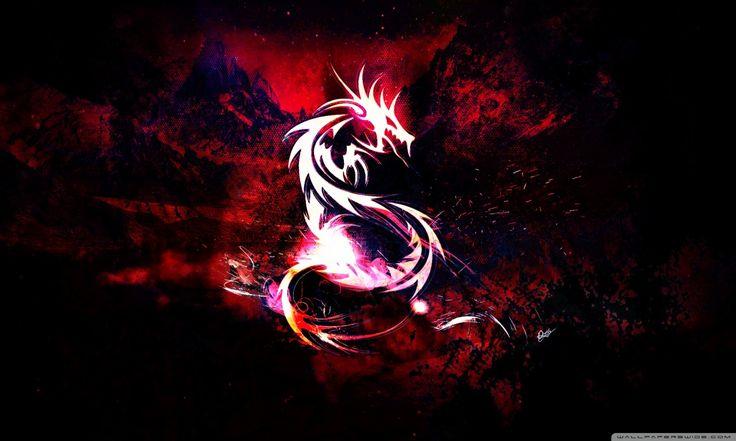 Bloody Red Dragon HD desktop wallpaper Widescreen High