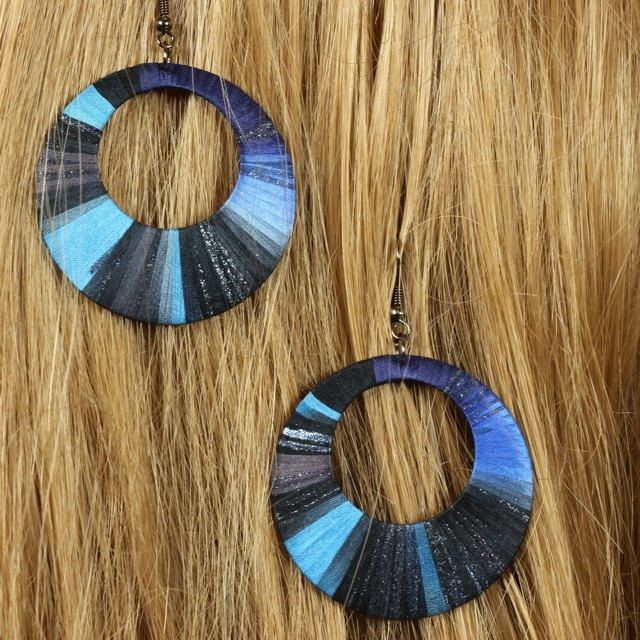 Unique handcrafted silk earrings by intuitashop on Etsy