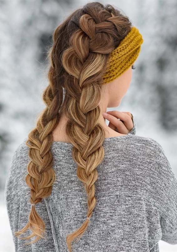 51 Best Winter Braid Styles You Must Try In 2019 Fashionsfield Hair Styles Long Hair Styles Braids For Long Hair