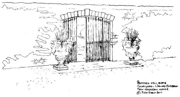 Gate Detail to Walled Garden Design