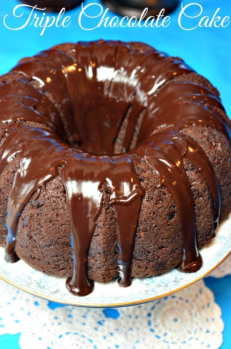 If you love Chocolate, this Triple Chocolate Super Moist Cake Mix Cake is the BEST! #chocolate #cake #dessert   I love baking from scratch, but when I am in a hurry or I need to prepare dessert for a large group,  I usually always depend on this quick and easy Chocolate Cake Mix recipe.  It is the moistest cake you