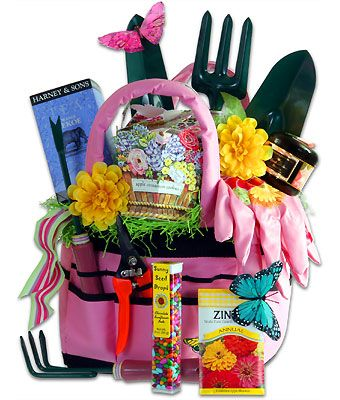Just in time for Mother's Day, pick up this gardening basket from Elegantly Expressed. It even has chocolate!