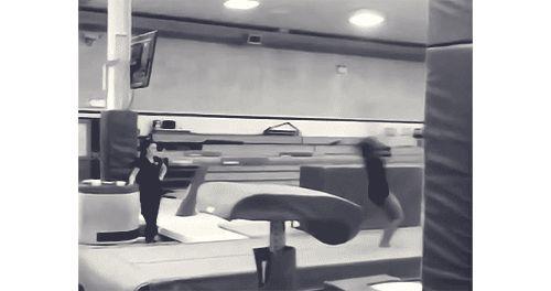 A British Junior Gymnast Training 1.5 Twisting Double Piked Arabian (GIF) « WOGymnastika