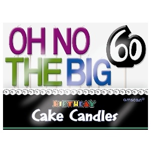 Oh No 60 Birthday Candles