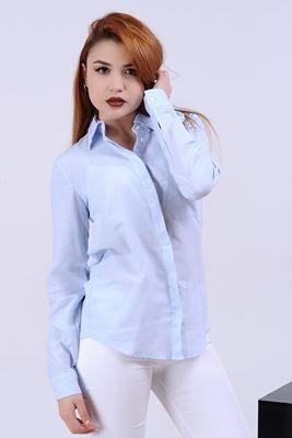 Detayları Göster Cepli Mavi Gömlek