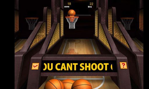 Attention basketball fanatics! Test your basketball practice and shot techniques in  Basketball Mania, a fun way to play Basketball!<p>Basketball Mania is a Arcade And Action Basketball Game. The aim of Basketball Mania is just as much fun as it is simple: shoot as many hoops as you can. Each successful shot is worth two points, except for the last twenty seconds, when every shot is worth three points.<p>How to Play:<br>- Touch a ball and fling it towards the basket to shoot the ball.
