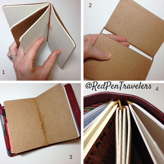 How to piggyback additional inserts in your traveler's notebook