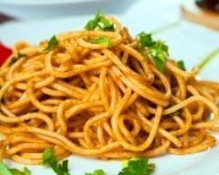 Spaghettis au curry