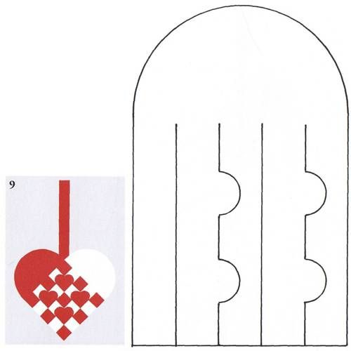 Have no idea where this link is from but it shows you 27+ patterns to print out to make these cute heart designs