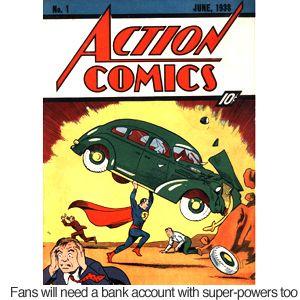 rare copy first superman comic sells for laur bizarre ariel sylvia plath review edition printing